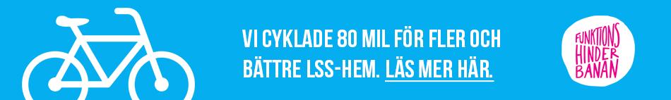 Vi cyklade 80 mil för fler och bättre LSS-hem. Läs mer här.