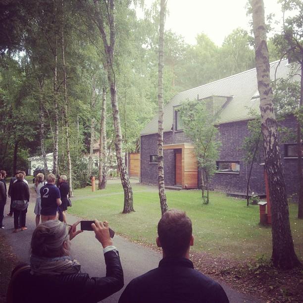 Studiebesök utanför Veberöd med FOJAB arkitekter. Snygga och välritade hus, det gillar vi!