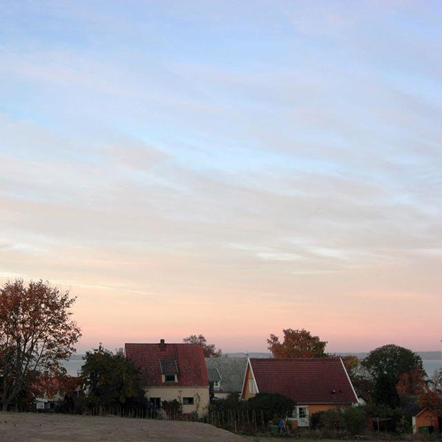 Så här trevlig utsikt är det från ett av husen i Blossalyckan. På passivhusbloggen.com finns det mer bilder från byggena i Arild! #blossalyckan #arild #emrahus
