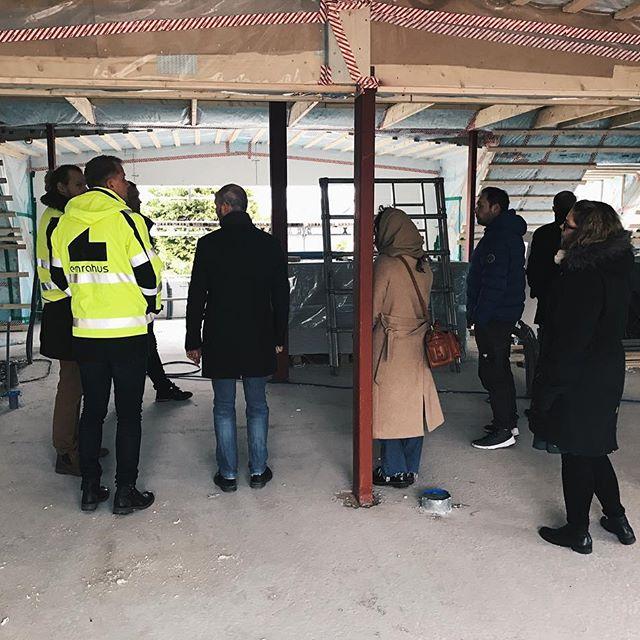 Idag har hela kontoret varit på studiebesök på LSS-boendet vi just nu bygger i Kattarp!