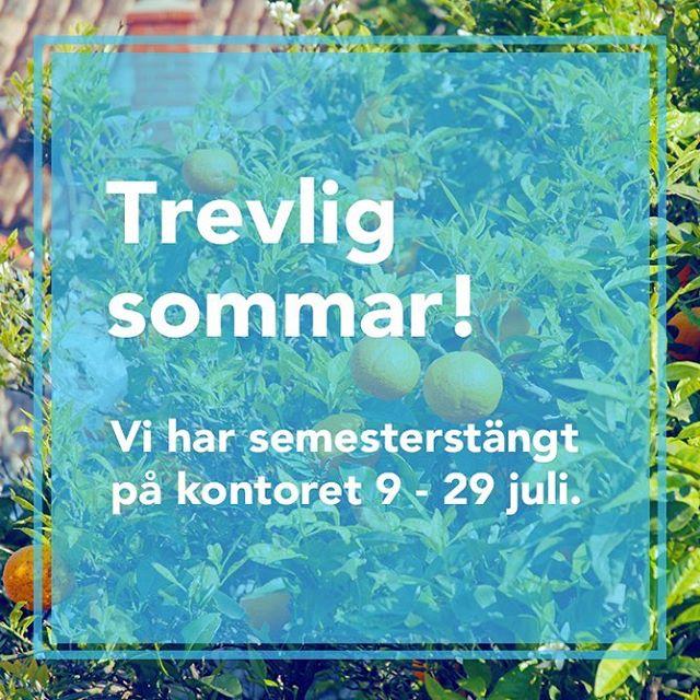 Nu går vi på semester! Vi hoppas alla får en fin sommar så ses vi i slutet på juli igen