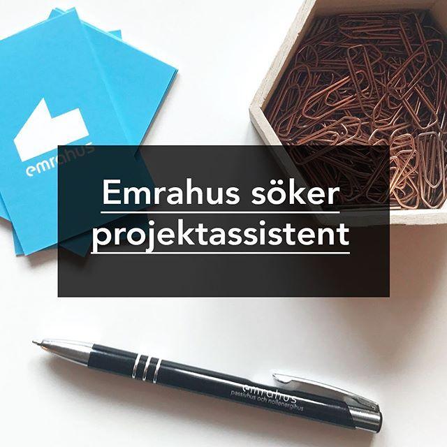 Vi söker en driven projektassistent till vår projektutvecklingsavdelning. Läs mer på emrahus.se/kontakt/jobb